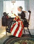 usa flag betsy norman rockwell